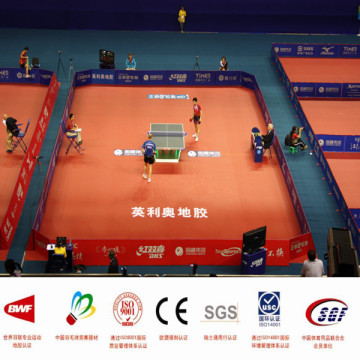 PVC table tennis court floor