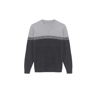Men's Knitted Colour Block Honey Comb Textured Pullover