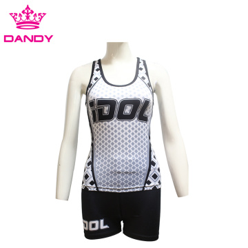 Girls fitness gym tank top