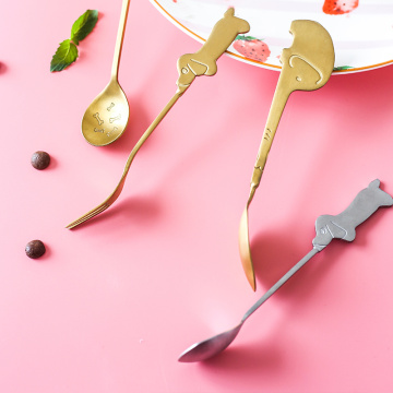 Cartoon Coffee Scoop Stainless Steel