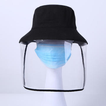 Protective face shield mask medical PVC bucket hat