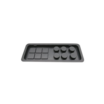 Customized cosmetic disposable black blister plastic tray
