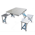 folding table with chairs