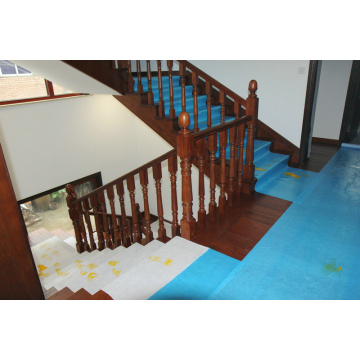 Clear Plastic Hard Wood Floor Protector During Construction