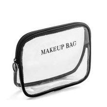 Custom Logo Easy Taking Lightweight Clear PVC Waterproof Cosmetic Bag