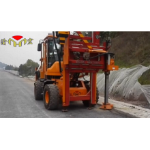 guardrail post driving machineguardrail post driving machine
