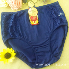 the hottest sale hipster new knickers sapphire China cotton sexy plus size panty 3xl 5311