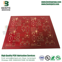 4layers Multilayer PCB Red Ink PCB in Shenzhen
