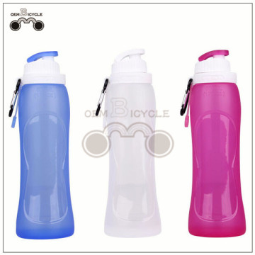 food-grade silicone foldable travelling bike bicycle water bottle for sale