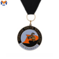 Custom round metal shield medal