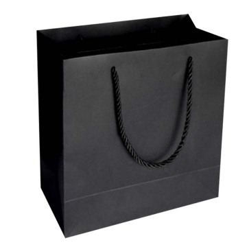 Black Luxury gift shopping paper bag with Handles