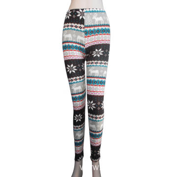 Good quality 98% polyester 2% spandex lady's leggings