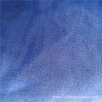 Textile Plain Color Solid Dyeing Flannel Fabric