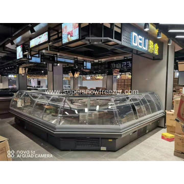 Commercial meat refrigerator counter display cooler