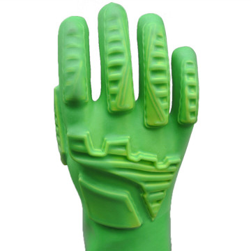 Fluorescent Green Anti-impact PVC Coated Gloves
