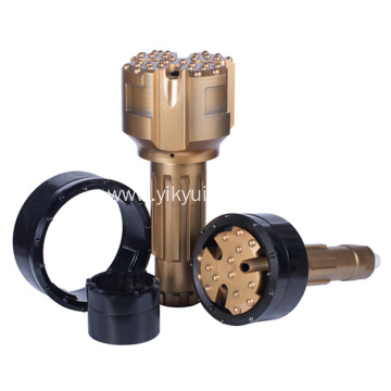 Concentric casing drilling hammer bits high air pressure