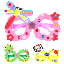 4Pcs DIY EVA Diamond Glasses Children Handmade Educational Toys Kindergarten 3D Glasses Paste Stickers Art Crafts Girl Kids Toy