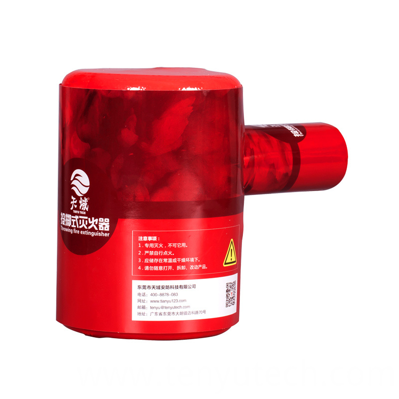 Throwing fire extinguisher