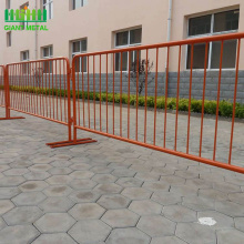 cheap price powder coated flat feet control barrier