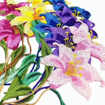 Water Soluble 3D Embroidery Flowers Handmade Patches