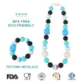 Silicone baby teething jewellery necklace