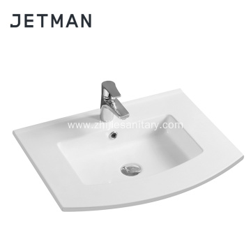 Thin Edge Porcelain Rectangle Wash Basin Composite