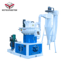 Feeding vertically pellet machine