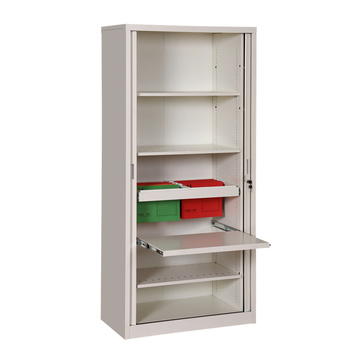 lockable sliding metal tambour door cabinet