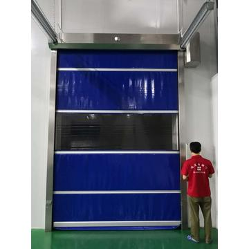 Anti-static PVC Fabric high speed Rolling shutter door