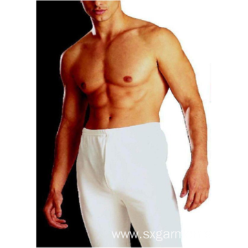 Men's 65%polyester 35%cotton pants fleece inside