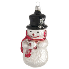 High Quality Blown Customized Glass Snowman Christmas Ornament