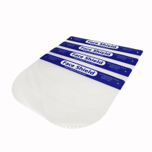 Disposable face shield PET clear plastic sheet