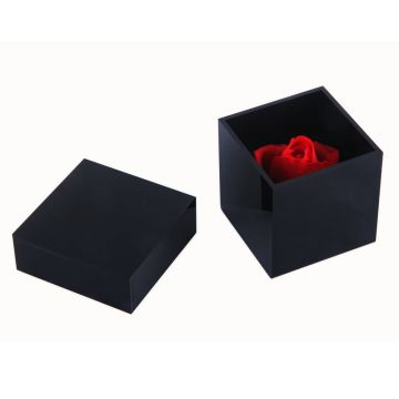 Small Acrylic Black Square Box
