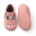 Hollow out leather baby girls shoes wholesale