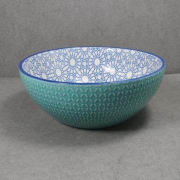 Embossed Stoneware Big Bowl