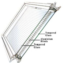 Tempered Low-E Double Glazing Glass with Blind Inside