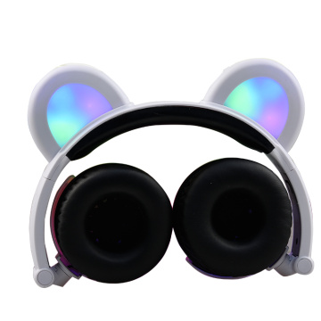 Wireless kids headset for girl with led light