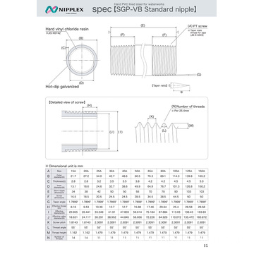 Single Screw SGP-VB Standard Nipple