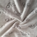 Polyester Cutting Back Printed Flannel Fabric Stock