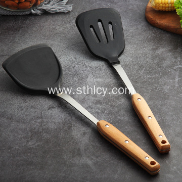 Non-Stick Wooden Handle Heat Resistant Spatula
