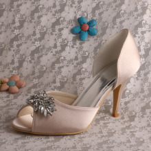 New Design Open Toe Satin Bridal Footwear Online