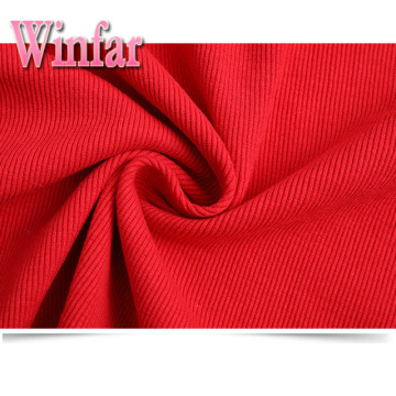 Cheap Polyester Spandex Tubular 2x2 Rib Knit Fabric