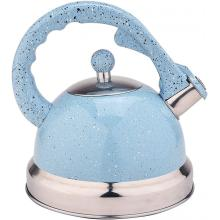 Sky Blue Mirror Stainless Steel Whistling Teapot