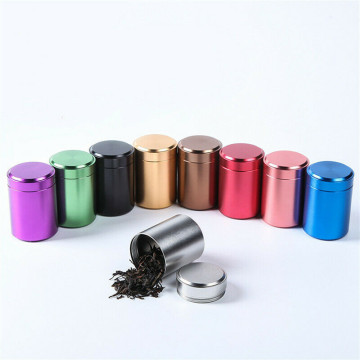 Airtight Smell Proof Container Aluminum Herb Stash Tea Jar Sealed Can Pretty Hot