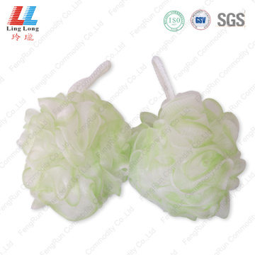 Two color charming mesh bath ball