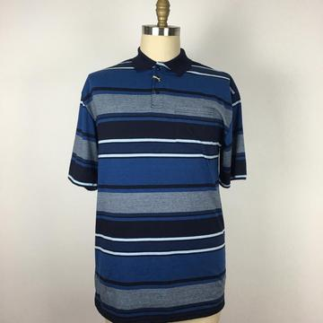Custom Design Stripes Washed Yarn Dyed Polo T-shirt