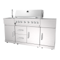 Six Burner Outdoor Kitchen Gas Barbecue