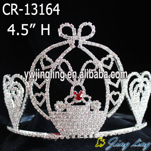 Wholesale Rhinestone 4 Inch Rabbit Bunny Easter Crowns