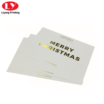 Merry Christmas gift card printing with gold logo