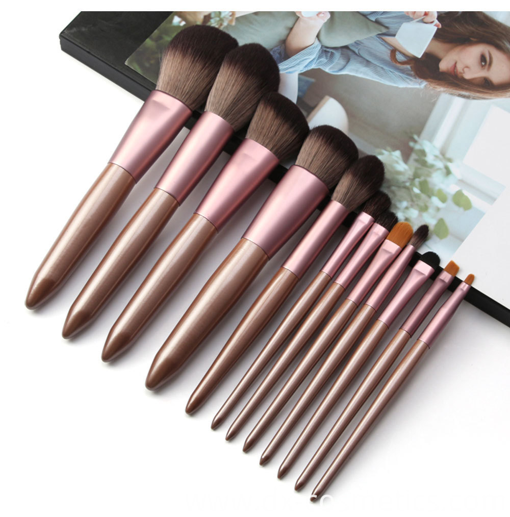 12 Pieces Grapelet Makeup Brush Set Hot8